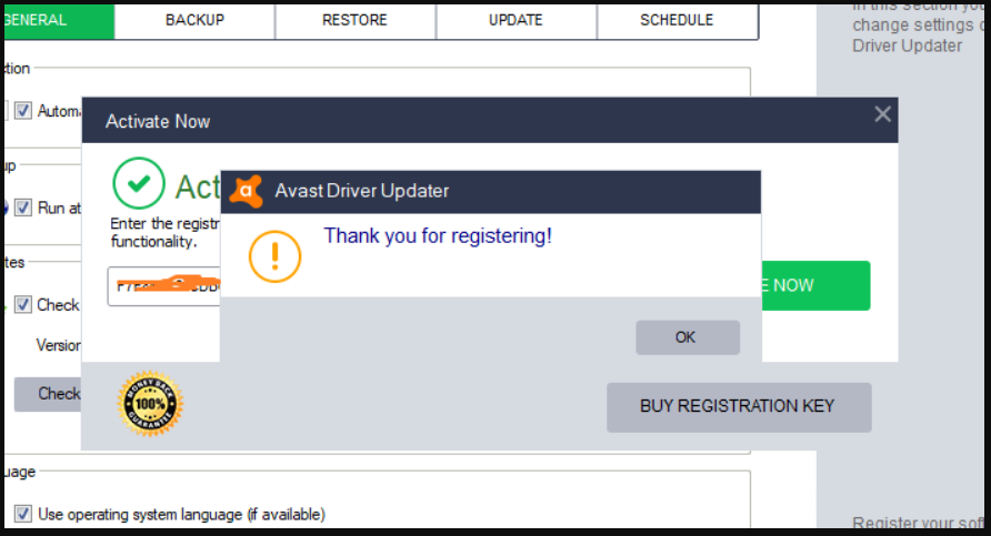 avast driver updater registration key list