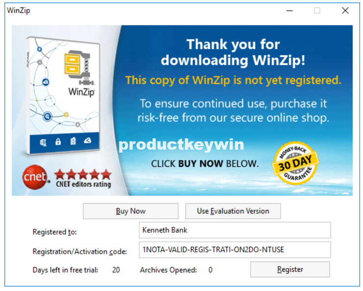 How to register WinZip software using a registration file